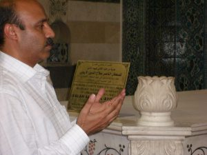 Dr Shahid Qureshi at Shrine of Sultan Salhudin Ayubi in Damascus