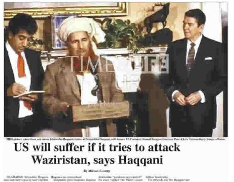 Haqqani with Regan