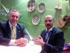 Mr Ali Ernesto Padron Paredes, Vice Tourism Minister and Dr Shahid Qureshi at World Travel Market 2015 event Excel Exhibition Center London