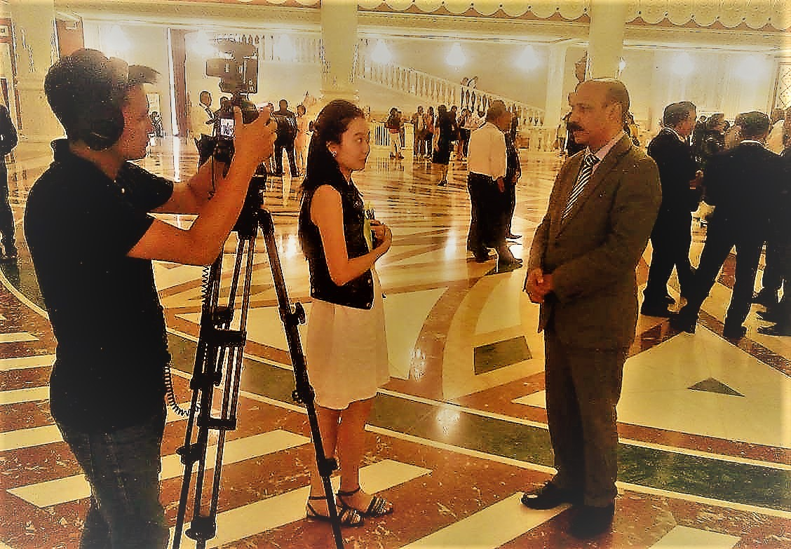 Dr Shahid Qureshi interview by Kazakhstan National TV at Astana Opera House 23 June 2017