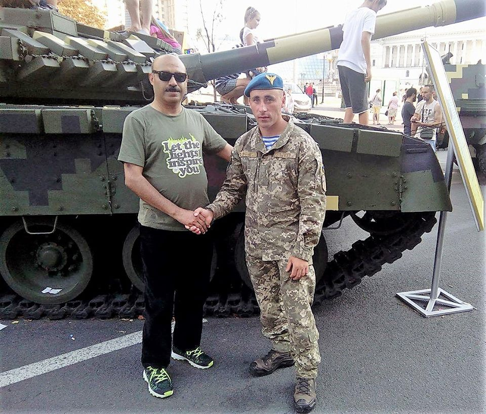 Dr Shahid Qureshi on National Day of Ukraine in capital Kiev with special forces.